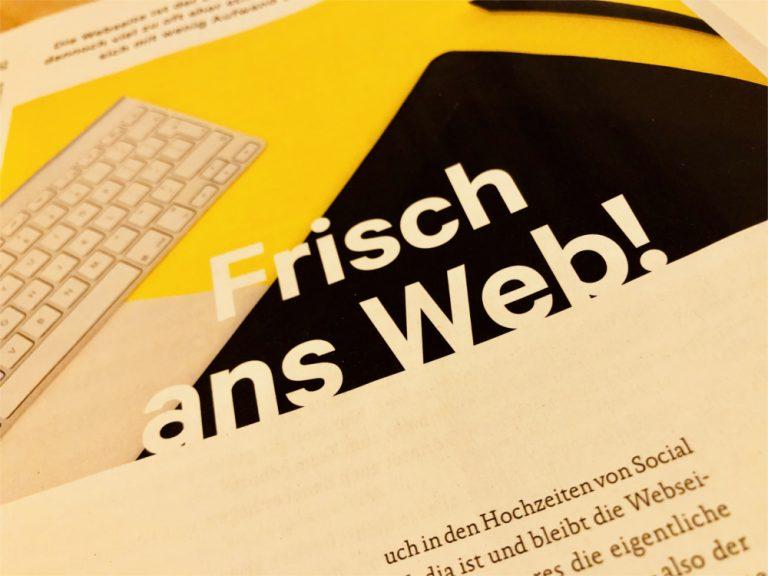 <span>Tipps für die Chorwebseite</span> Frisch ans Web!
