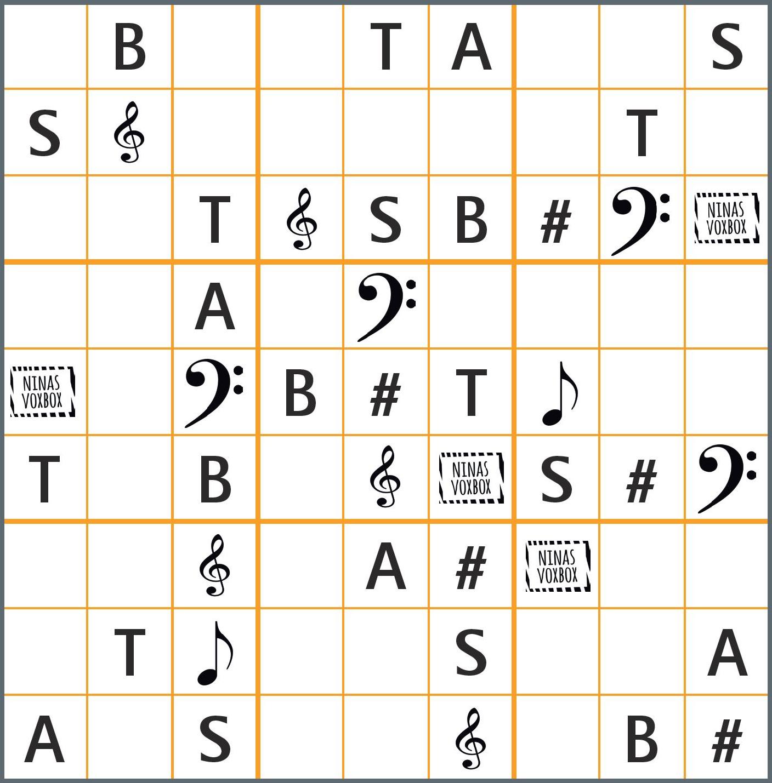 <span>SINGEN 9/2019</span> Chor-Sudoku