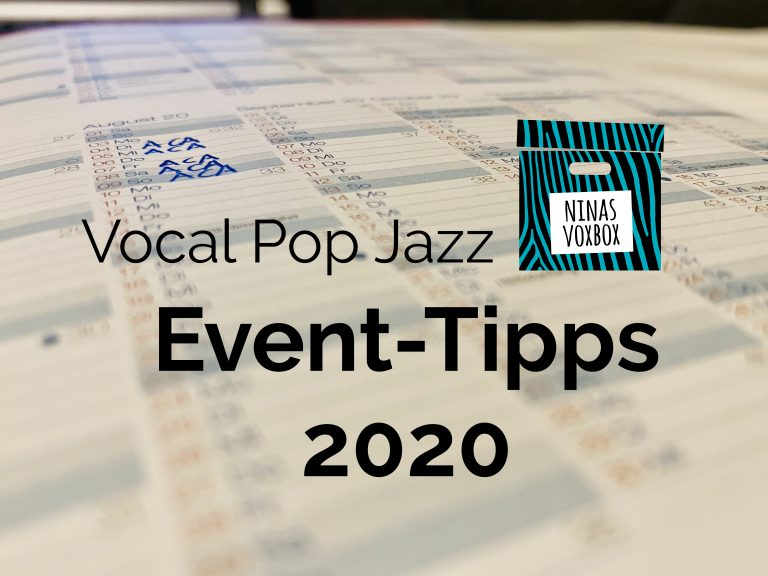 Vocal Pop Jazz Events 2020