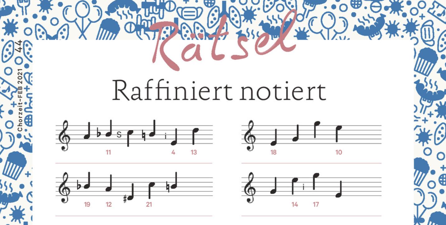 Notenrätsel Chorzeit 02/2021